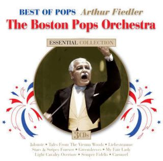 Fiedler The Boston Pops Orchestra Best Of Pops 3 CD set 45 recordings