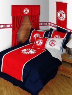 Boston Red Sox 4pc Twin Bedding Set Comforter Sheets New Baseball Boy