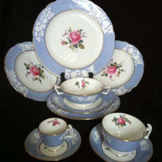 Spode Maritime Rose Bone China Set Lunch Dinner Soup Plate Cup Lot