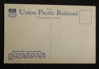 Union Pacific Railroad Boulder City NV Clark Co Postcard Nevada
