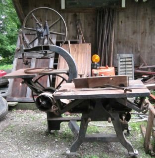 SIDNEY TOOL CAST IRON JUNIOR 30 BAND TABLE SAW TOOL JOINTER ETC BOYDEN