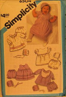 Sewing pattern BABY LAYETTE dress bonnet NEWBORN
