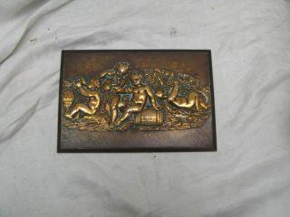 Antique Henry Bonnard Bronze Sculpture Wall Decor 5X8