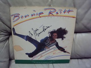 BONNIE RAITT SIGNED AUTOGRAPHED HOME PLATE ALBUM LP RECORD RARE