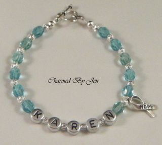 Cervical Ovarian Cancer Awareness Personalized Bracelet