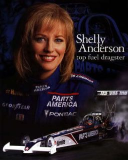 NHRA SHELLY ANDERSON BRAD Nitro Top Fuel Dragster CREW SHIRT Jersey