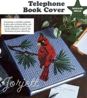 Cardinal Book Cover Picture Plastic Canvas Pattern