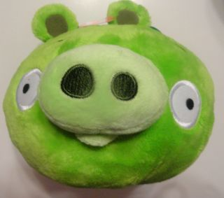 Angry Birds Green Talking SNORTING 5 Pig Stuffed Animal Plush New