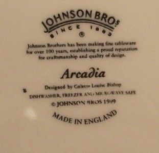 Johnson Brothers Arcadia Dinner Plate Excellent Condition