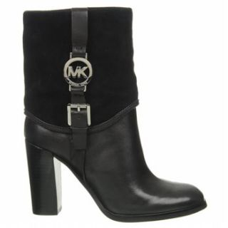 Michael Kors Womens Fulton Bootie Leather Fashion Black Boots