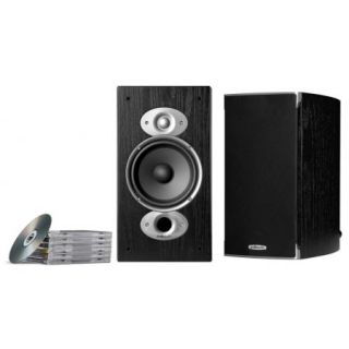 Pair RTI A3 RTIA3 Black Bookshelf Speakers Polk Audio