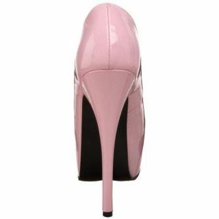 Bordello High Heel Pink 5 Heel 1 75 Concealed Platform Pump Teeze 06