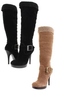 Guess Edesia Womens Suede Dress Boot Shoes All Sizes