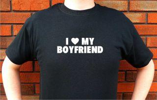 Heart Love My Boyfriend Funny T Shirt Tee