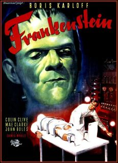 Classic Movie Poster Frankenstein Boris Karloff 1931