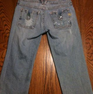 Miss Me Brand Womens Blue Capri Cropped Denim Jeans Size 30