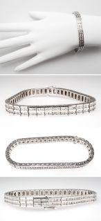 Carat Diamond Tennis Bracelet 14K White Gold Stunning skuwm7805