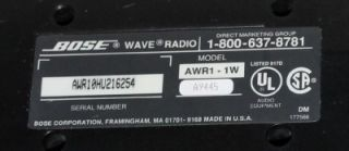 Bose Wave Radio Model AWR1 1W for Parts Repair Only Please Read