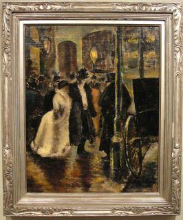 Billi Boros 1930s WPA Era Opera Painting Woman Artist ASL Reginald