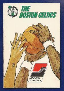 Boston Celtics NBA 1974 75 Pocket Schedule
