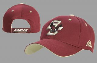 Boston College Eagles Adidas Maroon Adj Cotton Hat Cap