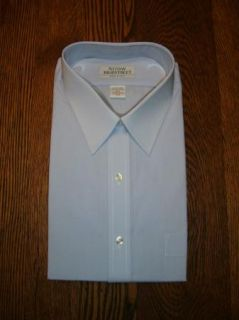 Vtg Arrow Bradstreet SS Blue Dress Shirt 16 1 2 Tall L