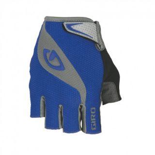 Giro Bravo Gel Mens Road Bicycle Cycling Gloves Blue Charcoal Medium