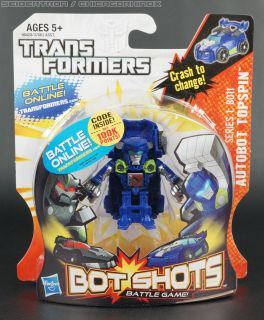 AUTOBOT TOPSPIN Transformers Bot Shots Battle Game MOSC Series 1: B011