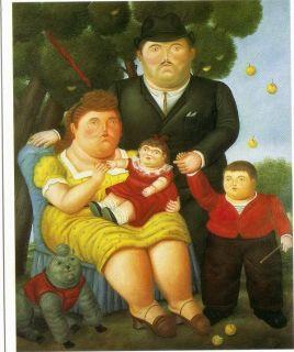 Fernando Botero Postcard 1994 Exhibition in Buenos Aires Una Familia