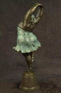 Abstract Prima Ballerina after Botero Bronze Marble Sculpture Figurine