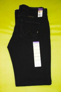 Womens Wrangler Western Q Baby Mid Rise Stretch Black Magic Jeans Any