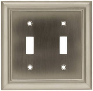 Brainerd 64208 Brushed Satin Nickel Architectural Double Switch Wall
