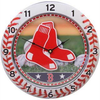 Boston Red Sox MLB Baseball Game Time Series Round Wall Clock