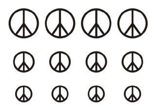 New Fashion Peace Symbol Chinese Character Love Temporary Tattoo Skin