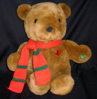 VINTAGE CHRISTMAS STUFFED ANIMAL PLUSH TEDDY BEAR ELECTRONIC MUSICAL