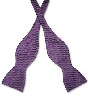 Antonio Ricci SELF TIE Bow Tie Solid PURPLE Color Mens BowTie