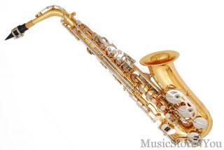 EB Alto Saxophone Sax Lazarro Tuner 11 Reeds Book Case Care Kit