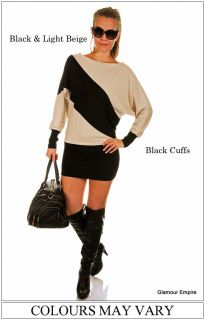 New Sexy Stretch Mini Dress Tunic Top Long Sleeve ♥ One Size 8 10 12