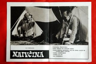 Sucker French de Funes Bourvil 1965 EXYU Movie Program