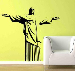 LG Cristo Redentor Jesus Statue Brazil Wall Vinyl Decal