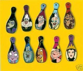 Disney Hidden Mickey Bowling Pin Villain 10 Pins Lot