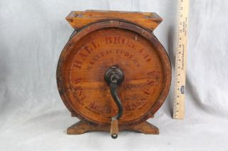 L319 Antique Wood Butter Churn Hall Brothers West Acton Massachusetts