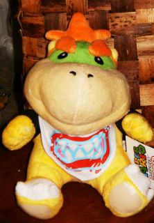 Bowser Jr Super Mario Bros Toy 7 Quality Plush Doll Gift NWT Fast