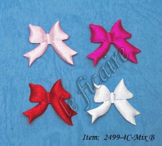 Small Satin Ribbon Bow Ties Appliques Crafts 120P Mix B