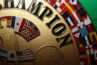 STUNNING WBC FULL SIZE REPLICA BOXING BELT ALI TYSON FRAZIER LOUIS