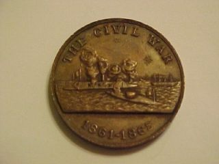 United States Navy for Service The Civil War Bronze Medal Token