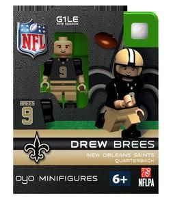 Drew Brees OYO Mini Fig Figure Lego Compatible New Orleans Saints NIP
