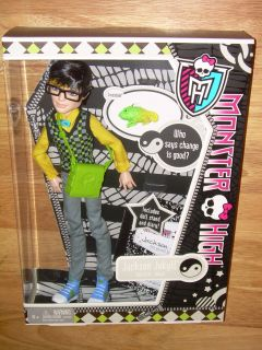 NIB Mattel MONSTER HIGH Boy Doll JACKSON JEKYLL w Pet Chameleon