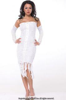 Sexy Adult Halloween Egyptian Mummy Bride Costume