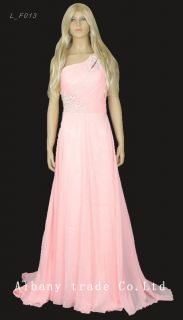 Long Prom Party Evening Bridesmaid Bridal Sequins Wedding Dress